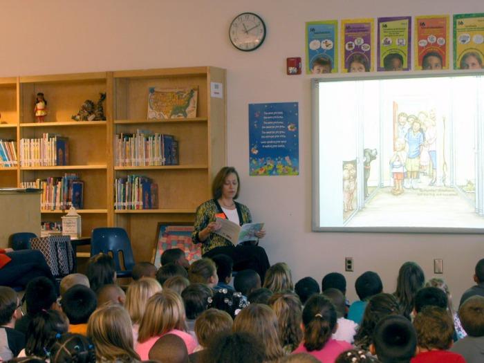 Reading Anastasia's Rain to Bayside Elementary first grades